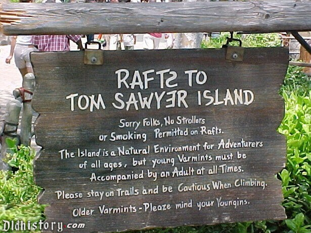 Rafts To Tom Sawyer Island