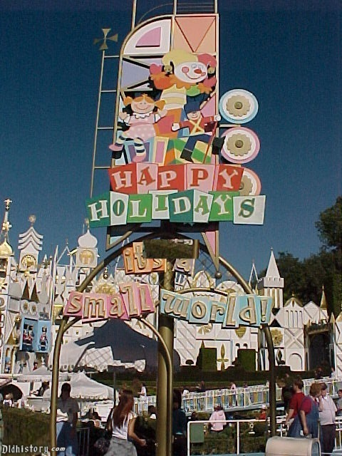It's A Small World Holiday Poster