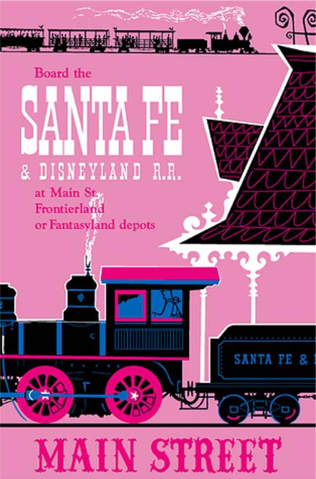 Santa Fe and Disneyland Railroad Poster