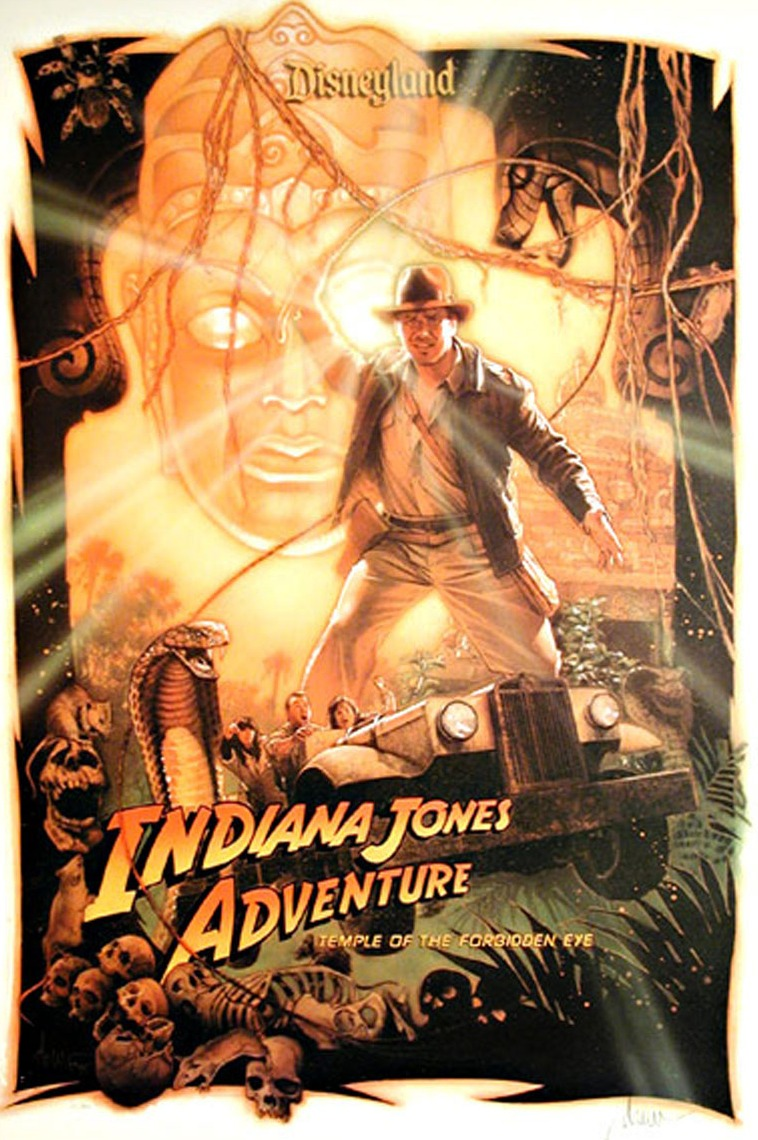 Indiana Jones Adventure, Temple Of The Forbidden Eye Poster