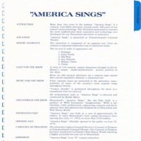 America Sings Information Continued