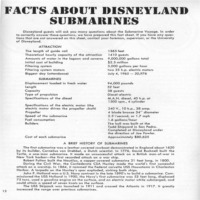 SOP Manual Facts About Disneyland Submarines
