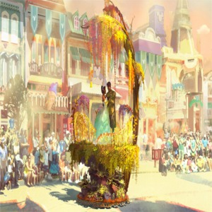 Princess And The Frog Float Artist Concept