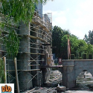 Moat Drained And Scaffolding For 50th Anniversary Refurbishment