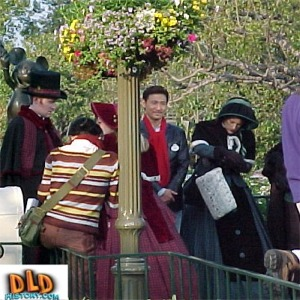 Jacky Chan With Carolers