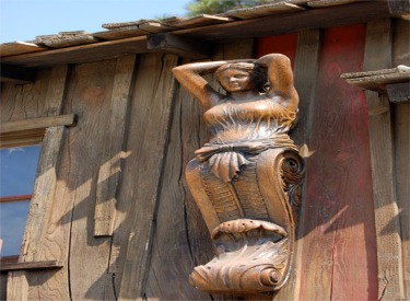 Female Wood Carving