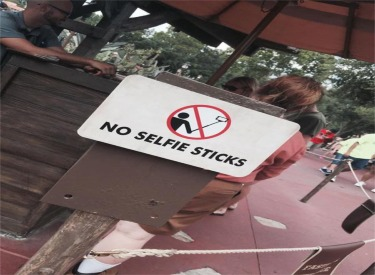 No Selfies Sticks Sign