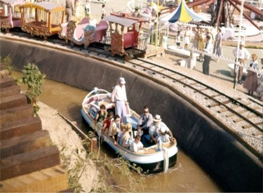 Canal Boat And Casey Jr Circus Train