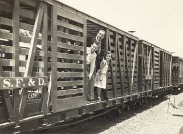 Walt Disney On Cattle Car