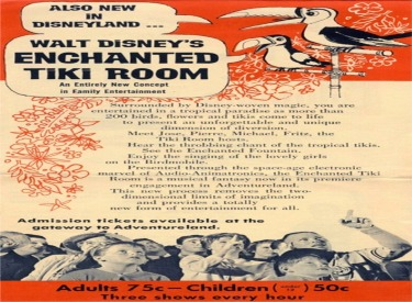 Flyer Announcing Enchanted Tiki Room