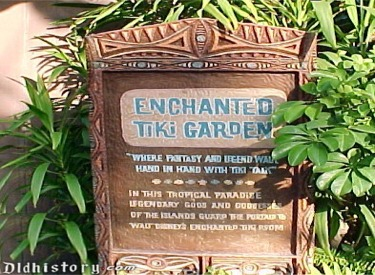 Enchanted Tiki Garden Sign