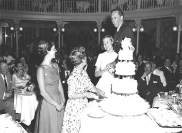 Walt, Lillian And Daughters Celebrate Their Wedding Anniversary
