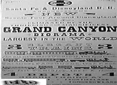 Grand Canyon Diorama Advertisement