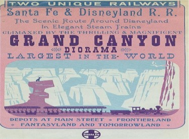 Santa Fe and Disneyland Railroad And Grand Canyon Diorama Flyer