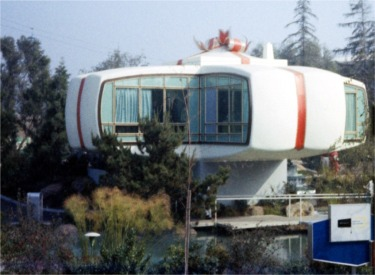 House Of The Future At Christmas Time