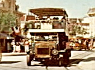 Omnibus Circling Town Square
