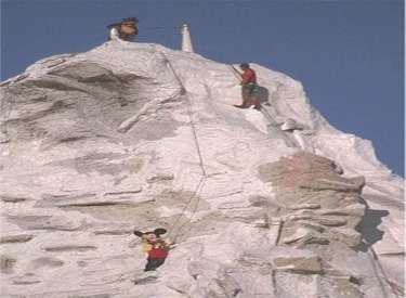Mickey And Mountain Climbers On The Matterhorn
