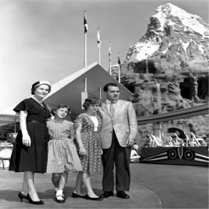 Nixon Family Poses In Front Of Matterhorn
