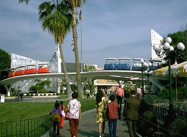 View Of PeopleMover From Tomorrowland Entrance
