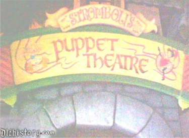 Strombolies Puppet Theatre Sign