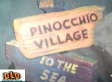 Pinocchio Village Sign