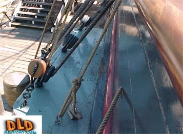 Close Up Of Standing Rigging Port Side