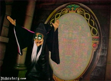 Evil Queen As Witch In Front Of Mirror