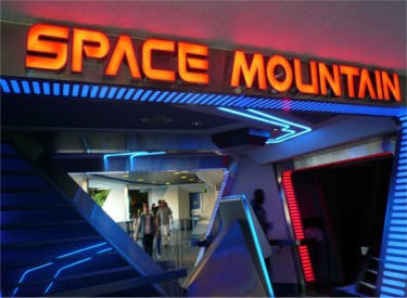 Space Mountain Entrance And Sign