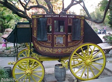 Stage Coach On Display In Frontierland