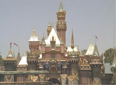 Sleeping Beauty Castle Decorated For 50th With Snow