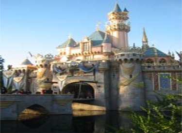 Sleeping Beauty Castle Decorated For 50th