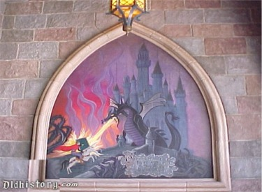 Fire-Breathing Dragon Mural
