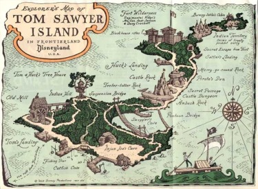 Map Of Tom Sawyers Island