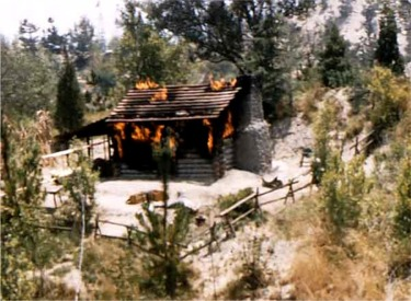 Burning Settlers Cabin