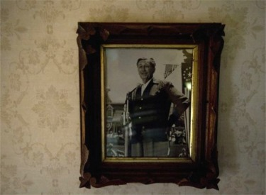 Framed Picture Of Walt Making Opening Day Speech