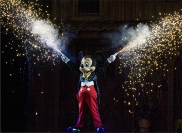 Mickey Mouse With Pyrotynics