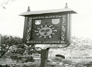 Alpine Gardens Sign