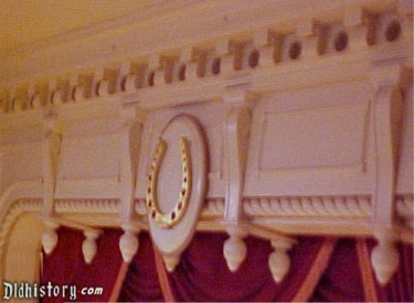 Golden Horseshoe Above Stage