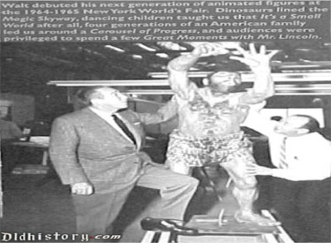 Walt With Caveman From New York Worlds Fair In Pre Show