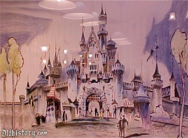 Artist Rendering Of Sleeping Beauty Castle In Pre Show