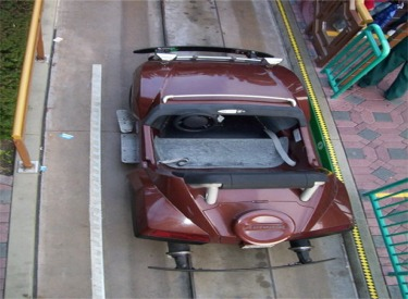 Overhead View Of Car