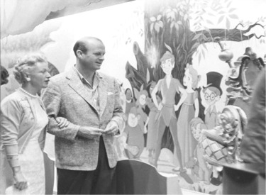 Jack Wrather In Front Of Peter Pan Murial