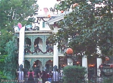 Front Of Haunted Mansion