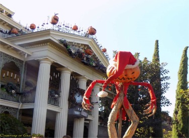 Pumpkin King And Front Of Mansion