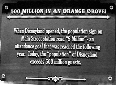 Sign About The First Disneyland Population Sign