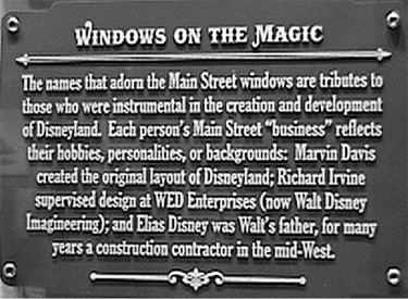 Sign About Main Street Windows