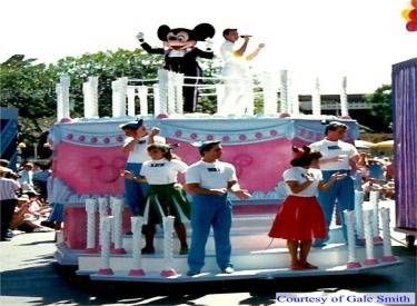 Mickey On Cake With Mickey Mouse Club Dancers