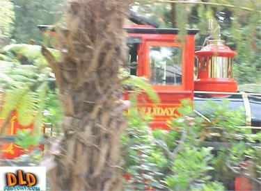 Train Going Through Critter Country