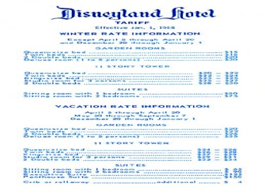 Disneyland Hotel Winter Prices