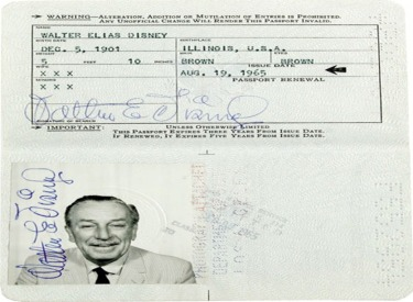Walt Disney's Passport.